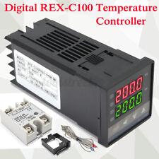 Digital LED PID Rex-c100 Temperature Controller Set K Thermocouple W/ 25a SSR