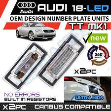 *x2pc Audi TT Mk1 8N 1999-2006 LED License Number Plate Light Error Free Units