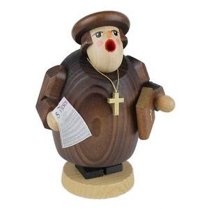 Wooden Preacher Priest Made In Germany Incense Burner Smoker
