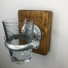 Industrial Steampunk Wall Mounted Bathroom Glass Toothbrush Holder Silver