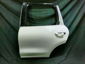 13 Porsche Cayenne Rear Left Driver Side Exterior Door Shell White 7P0833311