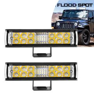 "2x 7"" Inch 180W LED Work Light Bar Spot Flood Combo Offroad SUV Car Driving Lamp"