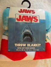 "Jaws Movie Shark Attack Swimmer Soft Micro Raschel 50'' by 60"" Throw Blanket"