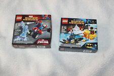X2-LEGO SUPERHERO DC BATMAN THE PENGUIN FACE OFF #76010 # 76014 Spiderman