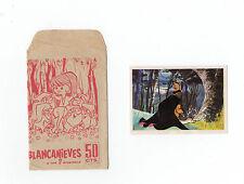 1960s ORIGINALE SPAGNOLO APERTO CONFEZIONE BIANCANEVE & I SETTE NANI + INSERTO