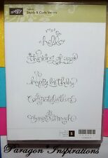 Stampin Up SWIRLS and CURLS VERSES Happy Birthday Congratulations Thanks so Much