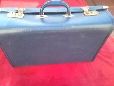 Vintage equipaje Azul Marino Maleta Funda Retro Pantalla de almacenamiento de viaje de tronco