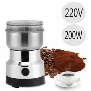 Elektrisch Kaffeemühle Espressomühle Gewürze Nüsse Körner Mahlen Zerkleinerer DE