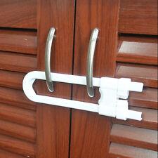 1pcs Child Infant Baby Kid Safety Drawer Door Cabinet Cupboard U Shape Lock AUGR
