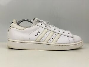 Adidas Campus Mens White Leather Trainers UK Size 9