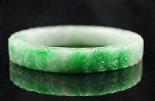 Chinese Antique Old Natural Green Jade Jadeite Bangle Bracelet 56mm/18.2cm #905