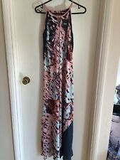 Next Ladies Maxi Dress Pink Print Size 10 New With Tags Lovely On