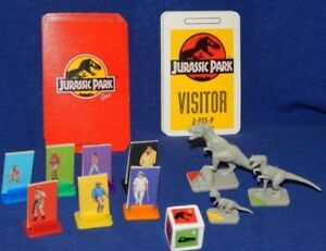 JURASSIC PARK BOARD GAME SPARE REPLACEMENT PIECES -  VINTAGE - Please choose:-