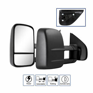 2x Power Extendable Towing Mirrors for Isuzu D-Max Holden Colorado RG 2012-2019