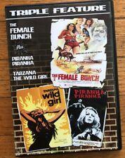 "Code Red Triple Feature DVD ""Female Bunch,"" ""Piranha"" & ""Tarzana The Wild Girl"""