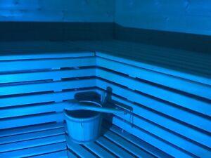 LED-Saunabeleuchtung-Saunalampe, Saunalicht 20 x Farblicht,Sauna + Fernbedienung