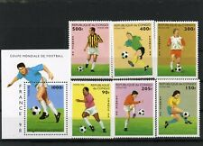 CONGO 1996 FOOTBALL COUPE DU MONDE FRANCE Ensemble de 6 Timbres & S/S MNH