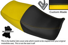 BLACK & YELLOW CUSTOM FITS YAMAHA XJR 1200 95-99 1300 98-01 DUAL SEAT COVER