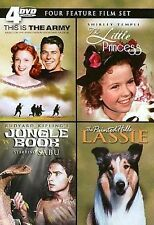 THIS IS THE ARMY / THE LITTLE PRINCESS / JUNGLE BOOK & LASSIE DVD NEW SEALED