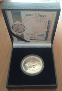 South Africa 2003 Rhino 20 Cents 1 Ounce Proof Silver Coin Rare with Coa