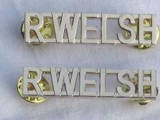 R.WELSH, Royal Welsh Régiment, anodisé Aluminium Staybright