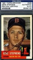 Gene Stephens Signed Psa/dna 1953 1991 Topps Archives Autograph Authentic