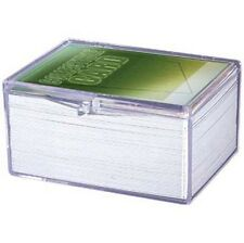 1 Case of 100 - Ultra Pro 100 Card Storage Plastic Case Hinged Snap Box