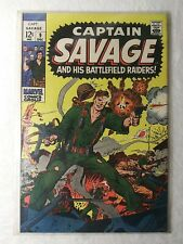 1968 Captain Savage And His Battlefield Raiders! Comic Book # 9 Marvel