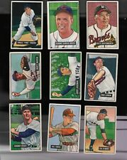 1951 BOWMAN BASEBALL PARTIAL SET LOT OF 100 AVERAGE VG-VG/EX SOME REGIONAL STARS