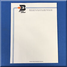 BUFFALO BRAVES NBA NATIONAL BASKETBALL ASSOCIATION 8 ½ X 11 OFFICIAL LETTERHEAD