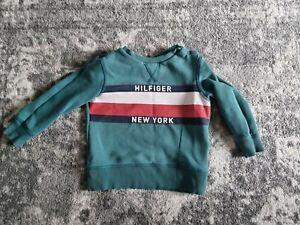 Tommy Hilfiger green jumper sweatshirt boys age 2 92cm
