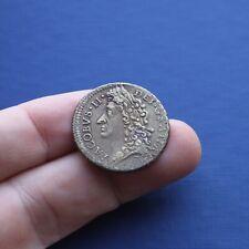 More details for milled base coin james 2nd gunmoney large shilling mar 1690 ad
