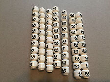 LEGO lot of 10 Skeleton Heads w/ Nice Face Minifig Cemetery minifigures