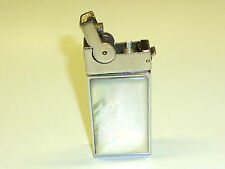 A.S.R. ASCOT ART DECO SEMI-AUTOMATIC LIGHTER W. MOTHER OF PEARL - 1950 - U.S.A.