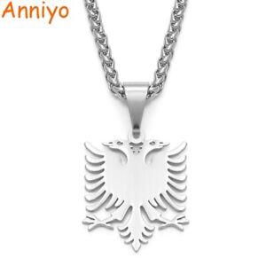 Albania Eagle Pendant Necklace Albanian Charm Jewelry Souvenir Medal Patriotic