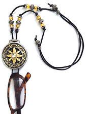 Handmade Eyeglasse Sunglasses Holder Adjustable necklace Gold and Silver Flower