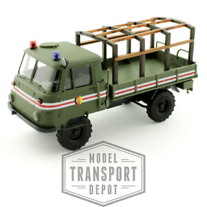 Busch 50227 Robur LO 2002 A Military Fire Command Truck Wood Frame Scale Model