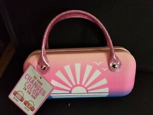 JUSTICE GIRLS HAND BAG STYLE Sunset Color Changing SUN GLASSES CASE