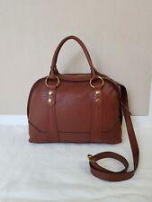 NWT FRYE Lucy Cognac Brown Leather Domed Satchel Handbag Purse DB0620 $428