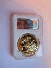 2010 Queen Elizabeth II Great Britain Gold Half Proof Sovereign Coin