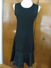 Bloomingdale's women's black soft 2 ply cashmere classic detaile dress New