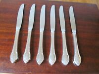 1847 Rogers Bros IS REMEMBRANCE Set of 6 Dinner Knives Silverplate Flatware #A