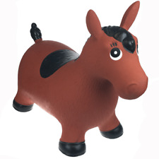 NEW Animal Bouncy Ride On Inflatable Brown Horse Soft Toy Fun Bouncer Kids 1yr +