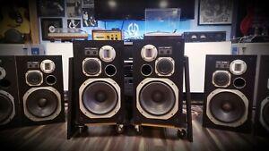 Pioneer S-910 Rare Mirrored Pair Speakers Very Rare 12' 3-way Floor Speakers 🎶