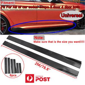 2M Gloss Black Car Side Skirt Extension Splitter Diffuser Panel Lip Universal AU