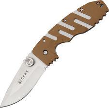 "CRKT 6803D Folding Knife Ryan 7 4 5/8"" Folder Linerlock 3 3/8"" Satin 8Cr1"