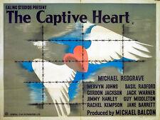 CAPTIVE HEART 1946 Michael Redgrave JOHN BAINBRIDGE Ealing UK QUAD POSTER