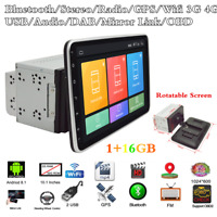 "Rotatable Screen 10.1"" 2Din Android8.1 Car Radio Stereo GPS Navigation Head Unit"