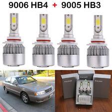 4XLED Headlight Kit 9005 HB3 9006 HB4 Bulbs H/LBeam For Toyota Avalon 1999-1998