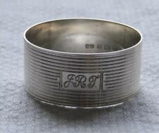 VINTAGE SOLID SILVER NAPKIN RING in Mint Condition 1921 by John Rose,Birmingham.